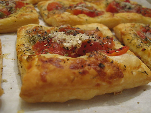 Tomato Herb Puff Pastry Tartlets