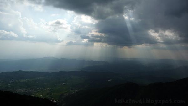 Lights Bursting Through Clouds at Billing