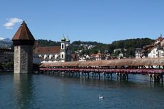Il ponte in legno di Lucerna - Luzern's woody bridge (Bluesky71) Tags: switzerland luzern ponte svizzera tp brigde lucerna