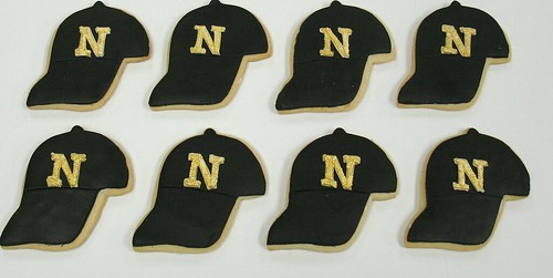 [Image from Flickr]:Noblesville Baseball team hats