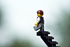Day 314 (a Dan of action) Tags: stairs lego pentax faith nowhere step 365 minifig k100dsuper