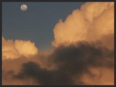 Moon sunset (Zelda Wynn) Tags: sunset moon clouds auckland nz cloudscape troposphere konicaminoltadimagea2 nzfm zeldawynn zeldawynnphotography
