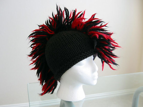 I was originally going to make the hat as written in the Pretty in Punk  book but knew he wouldn t like the earflaps. The pattern also had it worked  in two ... e59b4bbac62
