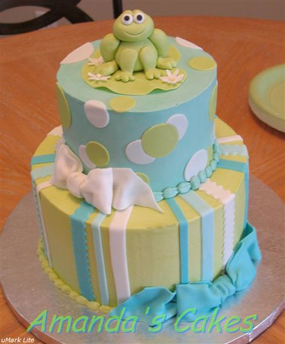 baby shower cakes ideas. Froggie Baby Shower Cake: