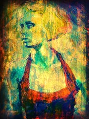 Blonde Spanish Dancer (mckenzieo) Tags: woman female canvas blonde hybrid recolored spanishdancer giclee latindance dancecompetition photoshoplayers redhalterdress mckenzieoerting purplehairedchick mckenzieocom competitivedancing paintingandphotography