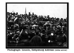 photo of Lincoln, Gettysburg Address