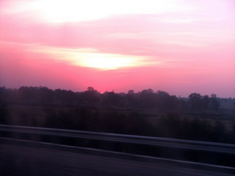 sundown on the way home from Nandi hills 251107
