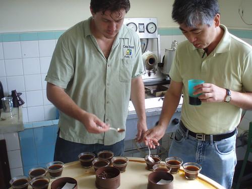 Joel with Akio