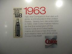 homage to diet soda (and helvetica) (jkenning) Tags: atlanta cocacola worldofcoke 2007 cokemuseum