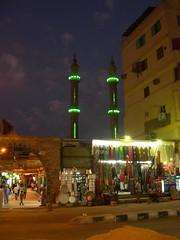 Green Minarets (upyernoz) Tags: night minaret egypt aswan