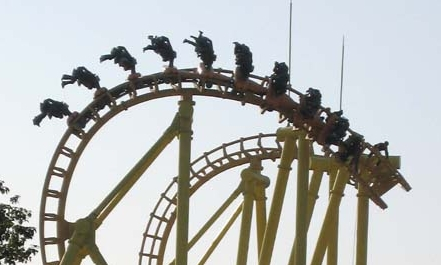 16 trapped upside-down on roller coaster at Wuhu Fangte Amusement Park