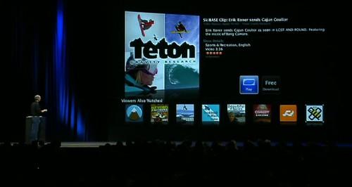 Keynote de Steve Jobs. ScreenShot de Roger Casas-Alatriste
