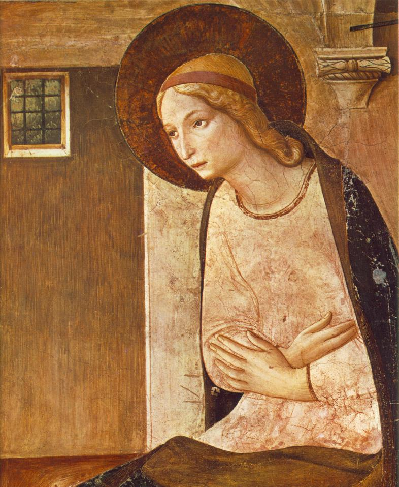 ANGELICO, Fra Annunciation (Mary) 1450
