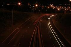 One way traffic (Travis NZ) Tags: light lamp car night is motorway l bop tauranga 400d newzelanad 24105mmlis