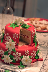Christmas Cake (mandrake68) Tags: christmas cake strawberry vanilla buttercream