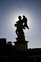 Statue on Castel Sant'Angelo Bridge