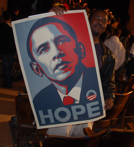 Hope - Obama (Shepard Fairey poster) by Steve Rhodes.
