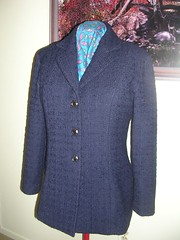 navy wool suit jacket