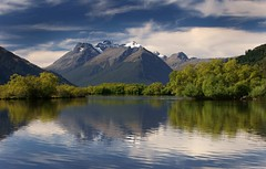 Glenorchy (Kenny Muir) Tags: new trees lake mountains alps reflection sony southern zealand aotearoa wakatipu glenorchy a700