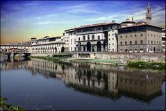 Blick auf die Uffizien von Florenz