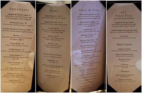 Pages of the menu