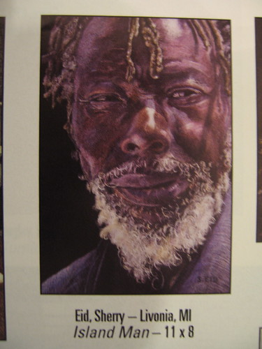 Colored pencil drawing entitled Island Man by Sherry Eid