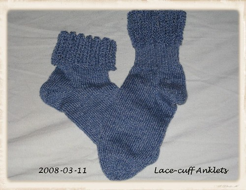 Lace Cuff Anklet Socks