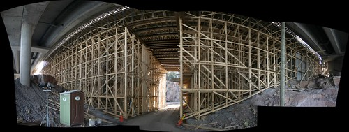 panorama of scaffolding