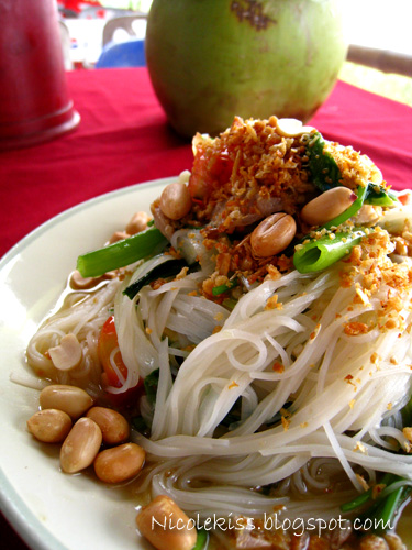 spicy noodle and vegetables