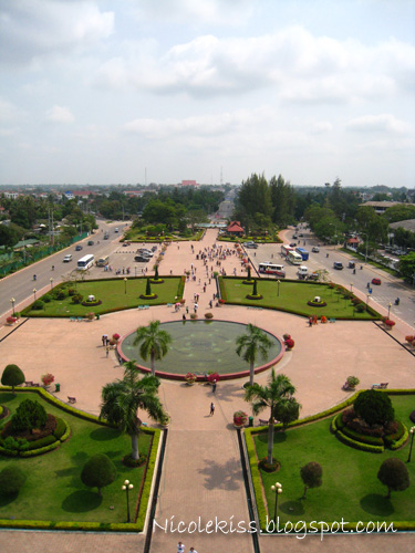 top view from patuxai