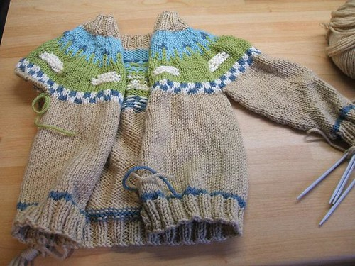 Sheep Yoke Baby Cardigan #2