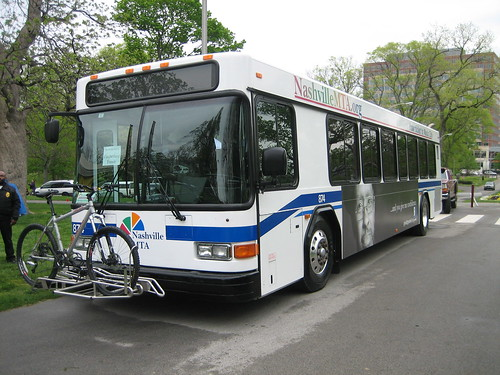 Nashville MTA bus with bicycle