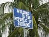 Suriname border sign