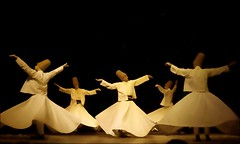 Whirling Dervishes - a beautiful armony (Teobius) Tags: white turkey spread dance arm muslim religion istanbul ritual ecstasy gown cloth sufi trance dervish ascetic whirling garb mevlevi extasy golddragon goldstaraward