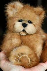Open mouth mink teddy bear (kimbearlyoriginal) Tags: kimbearlys original teddy bear mink ooak openmout cute fluffy