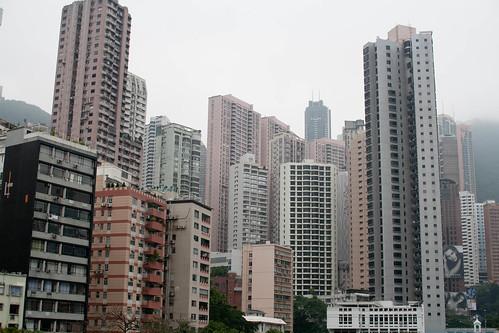 Dense, tall buildings