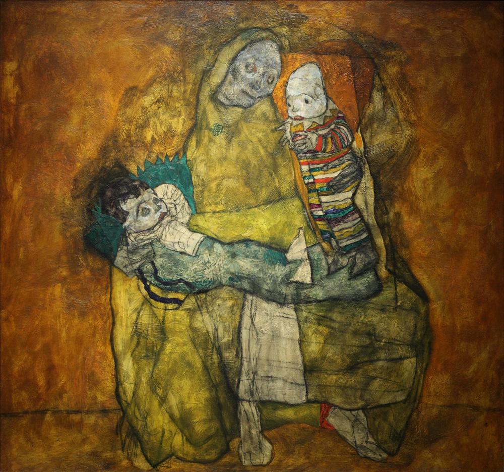 Egon Schiele, Mutter mit zwei Kindern II [Mother with Two Children II], 1915
