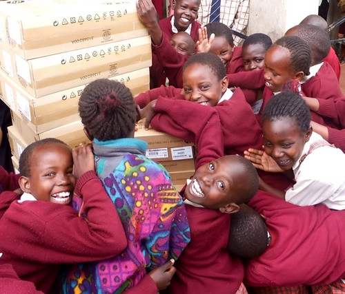 Pure joy at the arrival of the HP computers. It just melts my heart to see how excited these girls are!