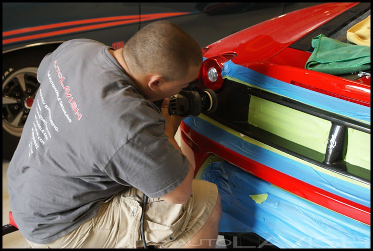 ferrari scud being polishing