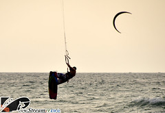 _DSC0418 (Streamer -  ) Tags: ocean friends sunset sea kite beach israel jump surf wind local 20 18  kitesurf knots parachute streamer kyte     ashkelon   ashqelon