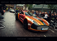 Bring The F%CK!N@ Madness (Thomas van Rooij) Tags: charity city uk orange motion london cars wet car rain speed start garden photography one movement nikon driving martin thomas centre united wrap kingdom automotive run event exotic covent passing nikkor panning 3000 77 supercar rolling aston gumball exotics supercars londen 18105 gumball3000 evenement 2011 d90 hypercar rooij one77 thomasvanrooij