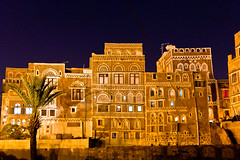 Old City of Sana'ain the night - UNESCO World Heritage Centre-yemen-- (anthony pappone photographer) Tags: architecture night canon photography photographer culture unesco arab arabia yemen sanaa persiangulf phototravel medioriente oldsanaa arabie arabiafelix arabieheureuse  arabianpeninsula    yemenpicture yemenpictures 5dmarkii   mediorient antiquepalace
