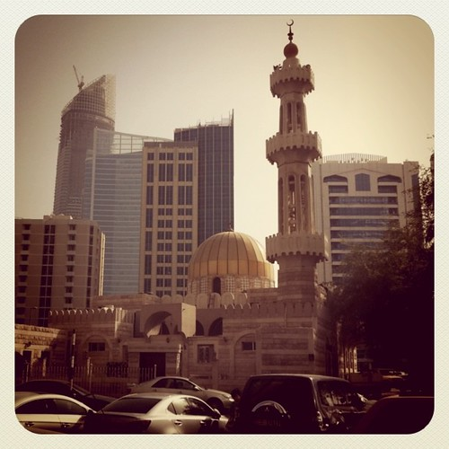 One of the mosques in Khalifa Street, Abu Dhabi