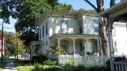 White Italianate Victorian