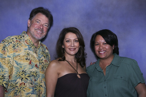 with Jonathan Frakes and Marina Sirtis