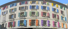 Windows open to the sun (Vin on the move) Tags: windows urban panorama building colors architecture geotagged lumix switzerland suisse geneve 28 hdr 3exp dmctz3 vin60 lpwindows