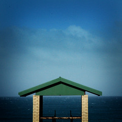 Life-Saving Lookout. (jimbodownie) Tags: sea sky water surf indianocean lookout hut lifesaving hourofthediamondlight