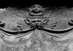 Fierce Creatures (Davy Ellis) Tags: graveyard angel scotland edinburgh headstone tombstone gravestone demon churchyard greyfriarskirkyard