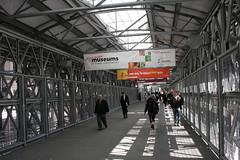 Fußgängerbrücke am Ground Zero