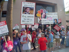 NBC Burbank, WGA picket line